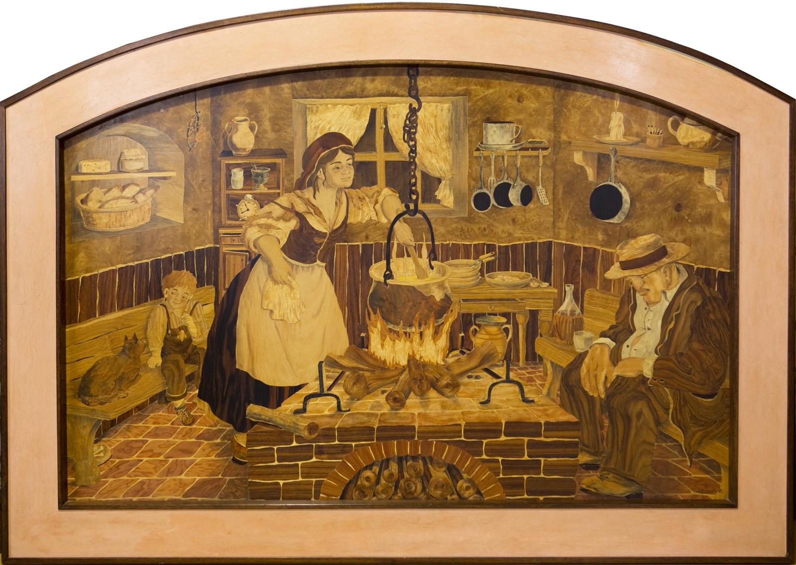 pannelli in legno intarsiato : Opere arte intarsio legno quadri e varie tecniche Venezia Carlo ...